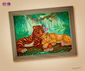Tiger und Leopard