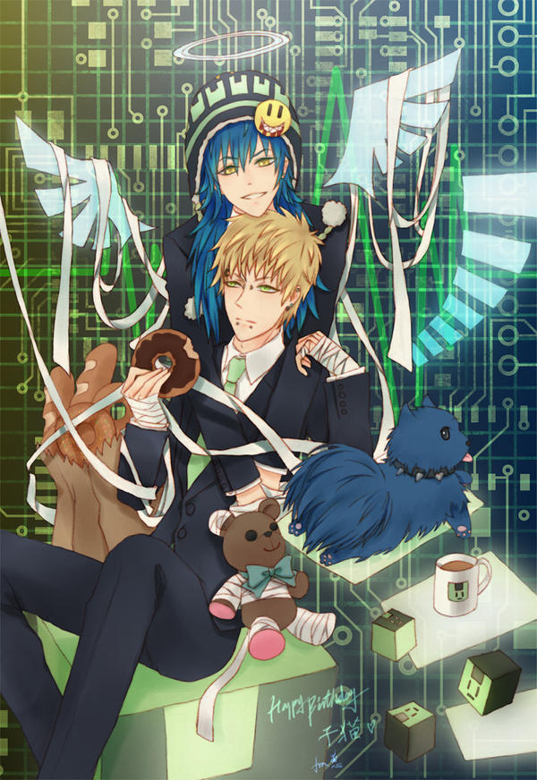 DMMd - Noiz X Aoba: Electric Angel by ericajc