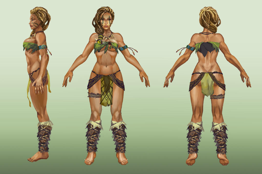 Jungle girl commission by Huy137