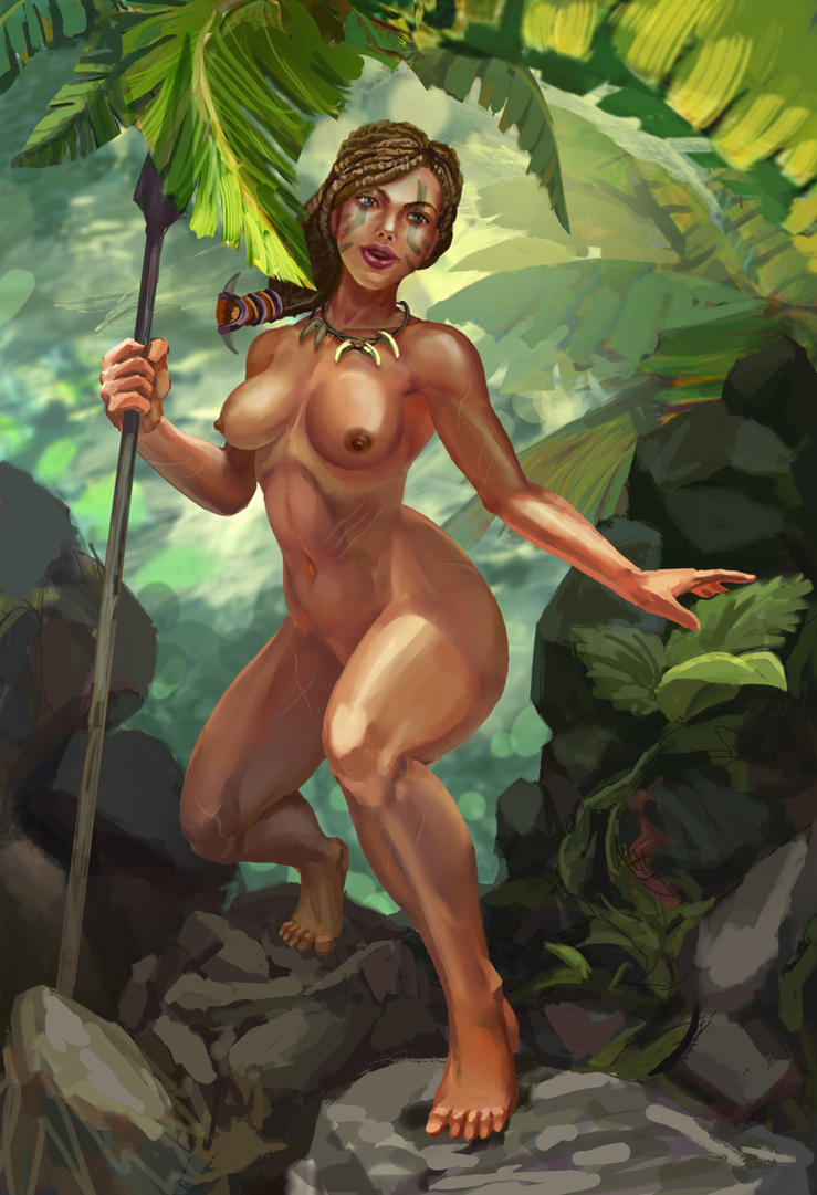 Jungle girl Hunting NSFW by Huy137