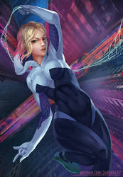 Spider Gwen into the spider verse by Huy137