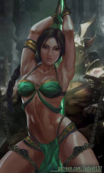 Jade Mortal Kombat bondage variation by Huy137
