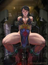 Chunli interrogation (Battle dress version) by Huy137