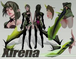 Xirena character sheet. by Helba-00