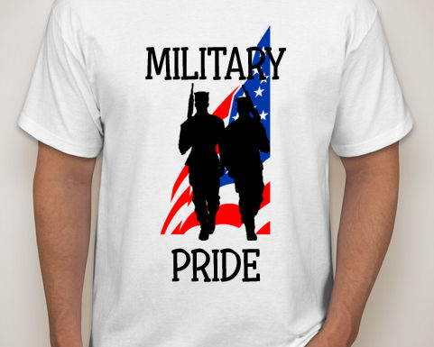 Military Pride Tee Design