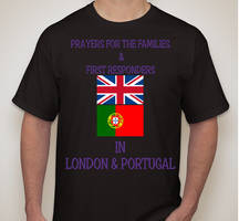 Prayers For London and Portugal Shirt Design
