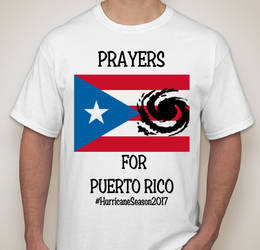 Prayers for Puerto Rico Shirt Design