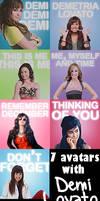 Demi Lovato avatars