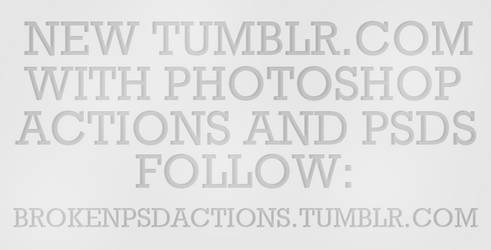 TUMBLR with actions and psds