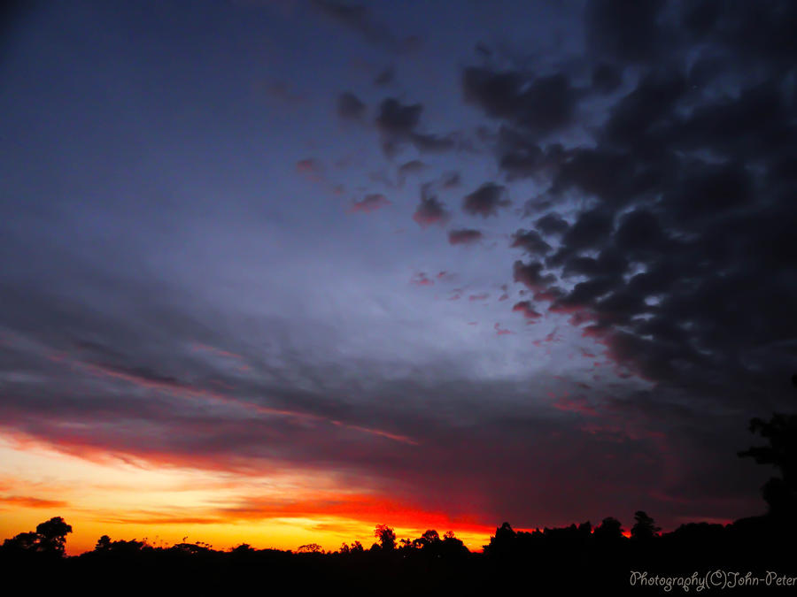 Sunset Before the Storm by John-Peter