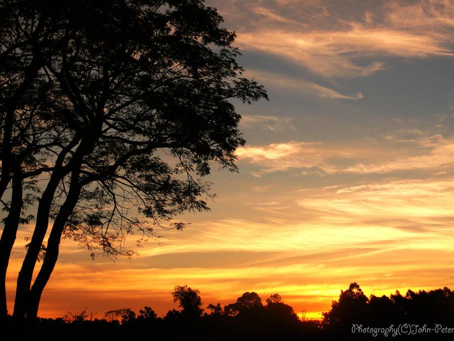 Sunset Skies VIII by John-Peter