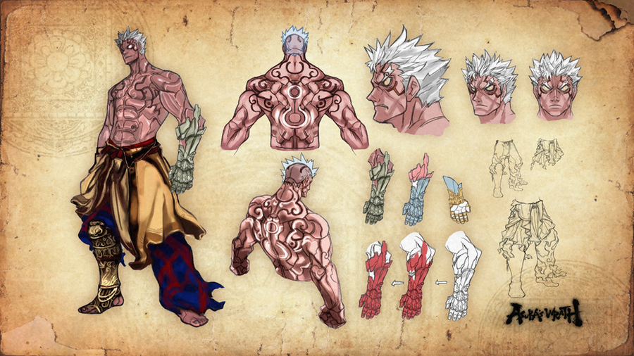 Asura's Wrath Asura Concept Art V1 by sidneymadmax