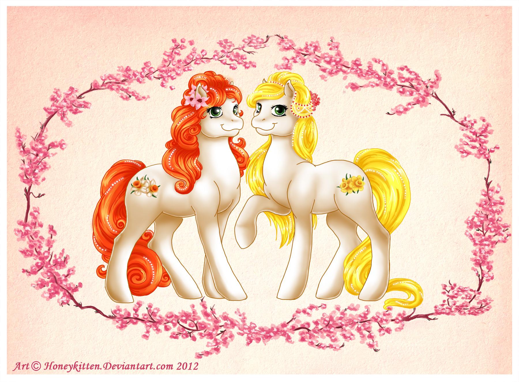 Spring Ponies by Honeykitten