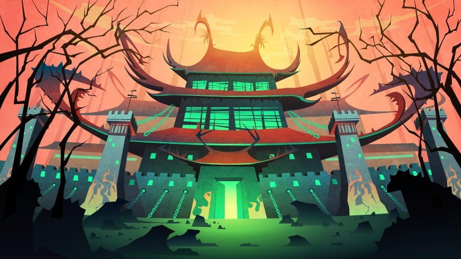 2d animation background concept (chuck chicken ) by CiCiY on ...