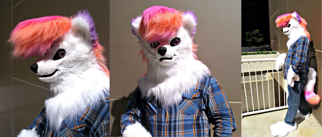 Faron the Arctic Fox - Fursuit by ME! by farondk