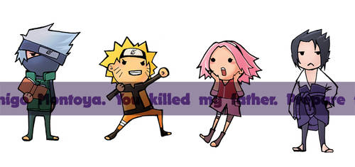 Team 7 Chibis by nuu