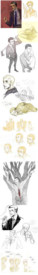 Deadly Premonition Sketchdump (contains spoilers)