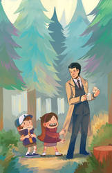 Gravity Falls/Twin Peaks by nuu