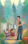 Gravity Falls/Twin Peaks by nuu