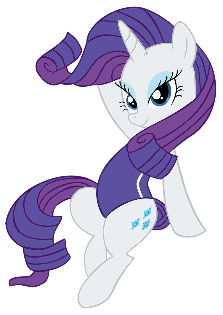 rarity in swimsuit by hendro107 on deviantart