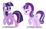 Purple Magic Ponies Dancing on Tiles (Both If You)