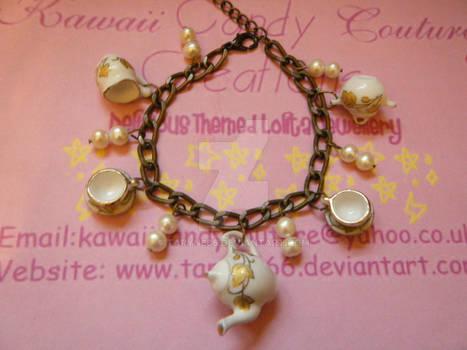 Vintage Tea Set Bracelet