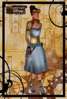 Steampunk Tiana by HelleeTitch