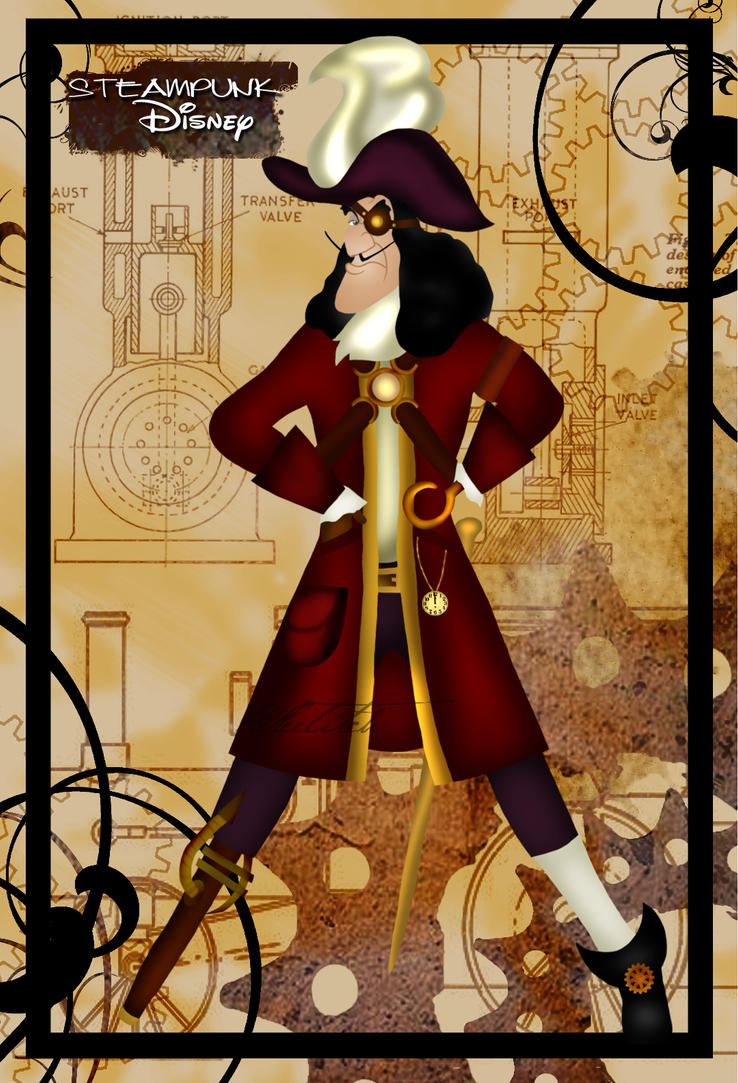 Steampunk Captain Hook by HelleeTitch