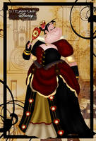 Steampunk Queen of Hearts by HelleeTitch