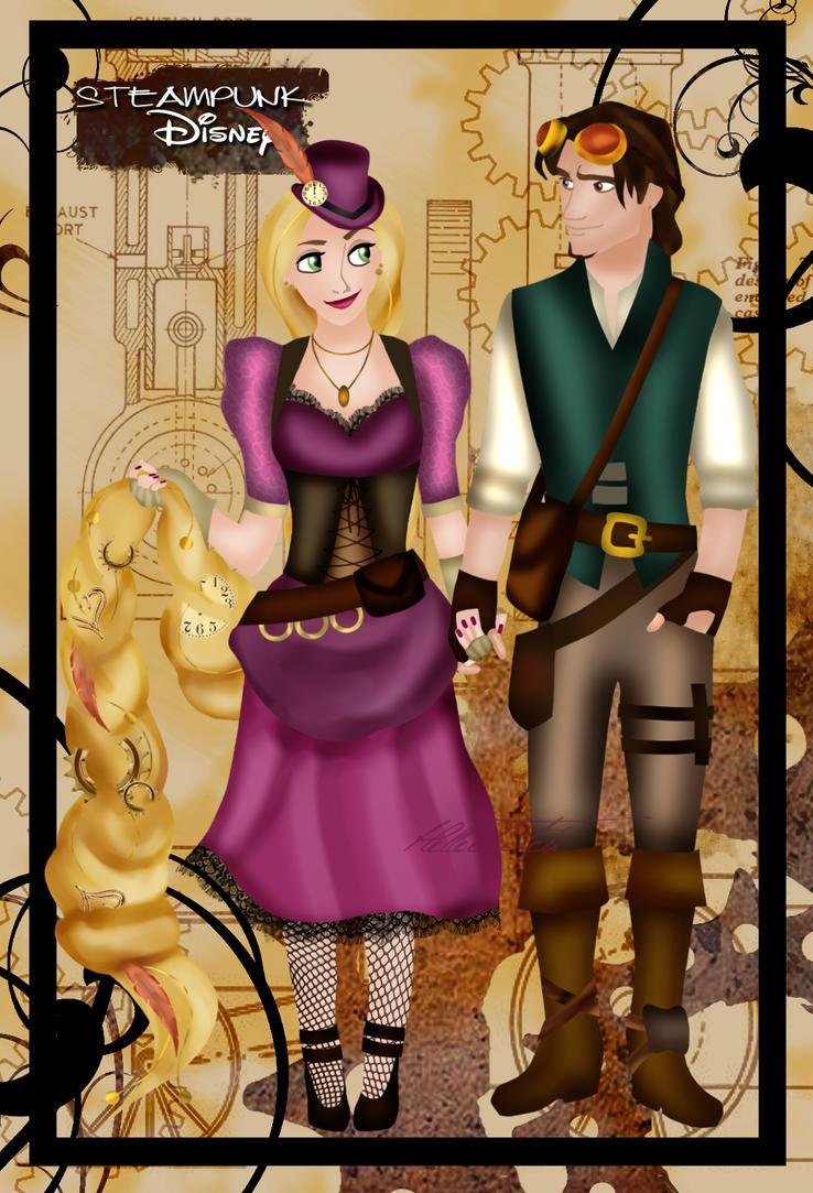 L'image qui roxe du saucisson Steampunk_rapunzel_and_eugene_by_helleetitch-d4906ni