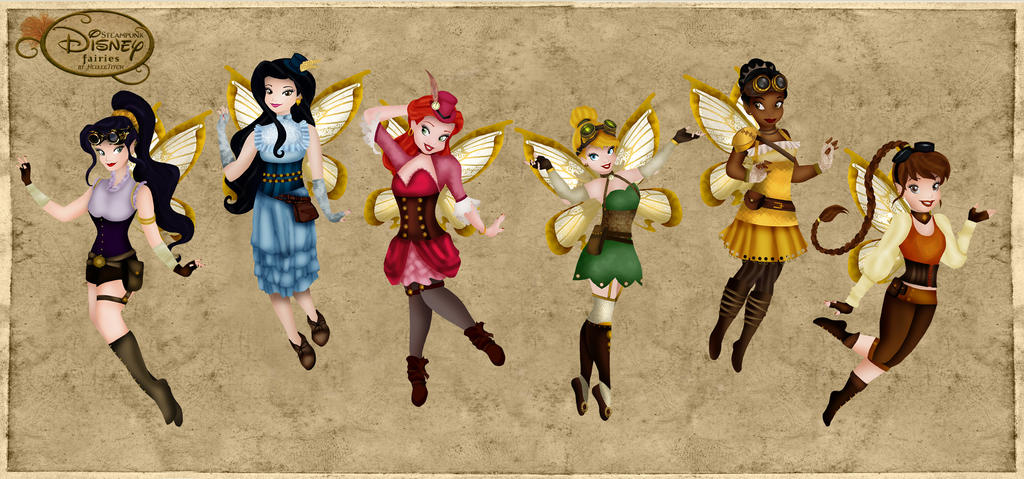 Steampunk Disney Fairies by HelleeTitch