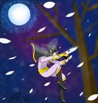 Shadow king at night by AquaticWolfKuri