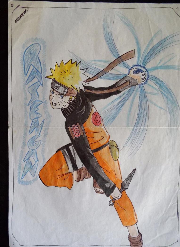 Naruto Uzumaki fanart rasengan by Elder360