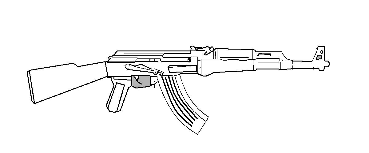 Line Drawing Gun : Ak line art by gmodmike on deviantart