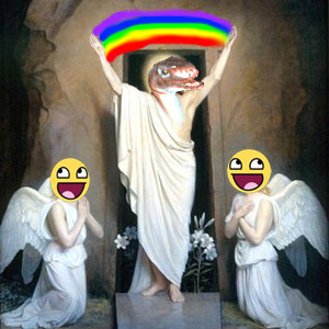 Raptor Jesus by M40inc ... & Raptor Jesus by M40inc on DeviantArt