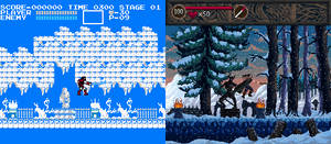 Castlevania Winter Before After by Jonata-D