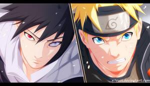Naruto 694 - Naruto vs Sasuke by X7Rust