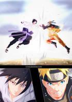 Naruto 694 - Naruto VS Sasuke Full page by X7Rust