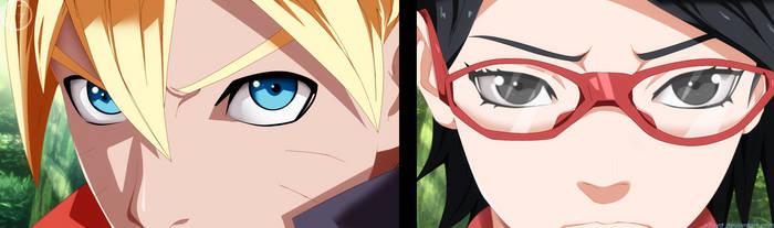 Naruto Gaiden - Boruto and Sarada by X7Rust