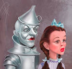 Dorothy and the Tinman Caricature
