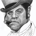 Oliver Reed Caricature