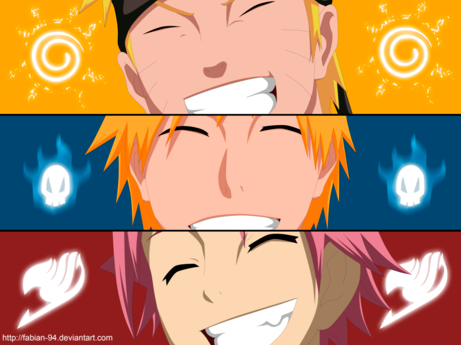 The gallery for --> Goku Vs Naruto Vs Luffy Vs Ichigo