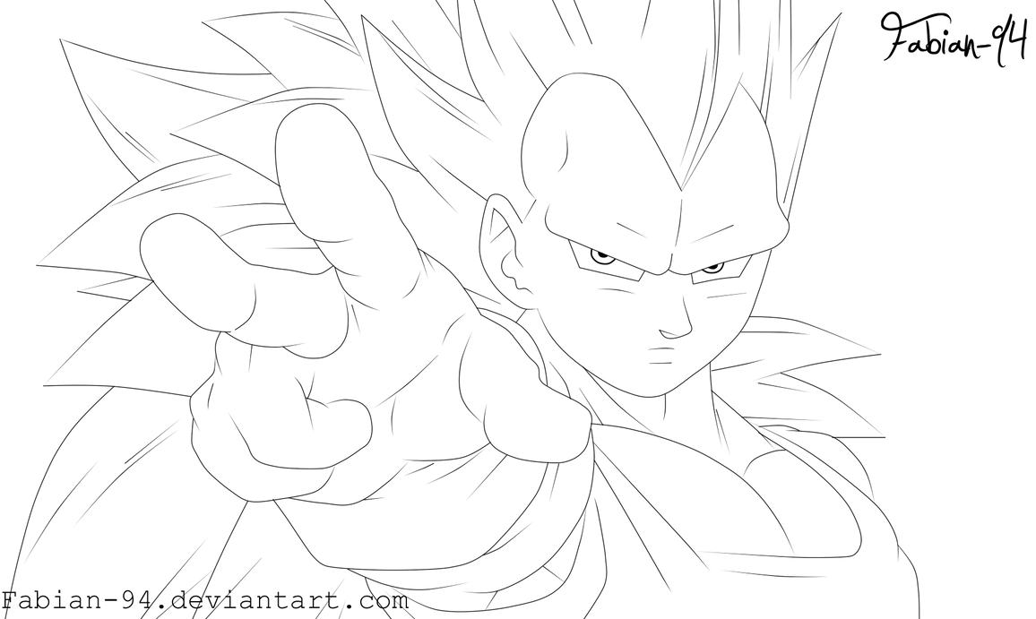 Gogeta Para Colorear: Vegeta Ssj3 Para Colorear