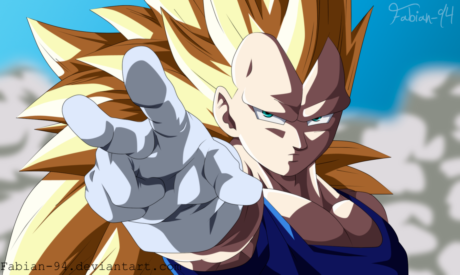 Vegeta ssj 3 color by FabianSM