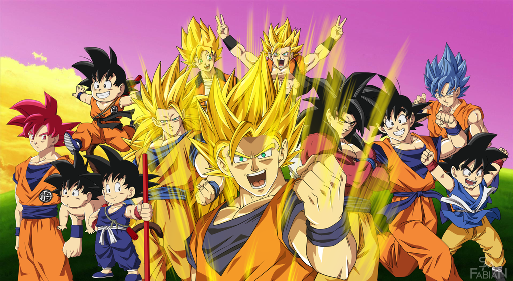 Goku [DB,DBZ,DBGT,DBS] by FabianSM