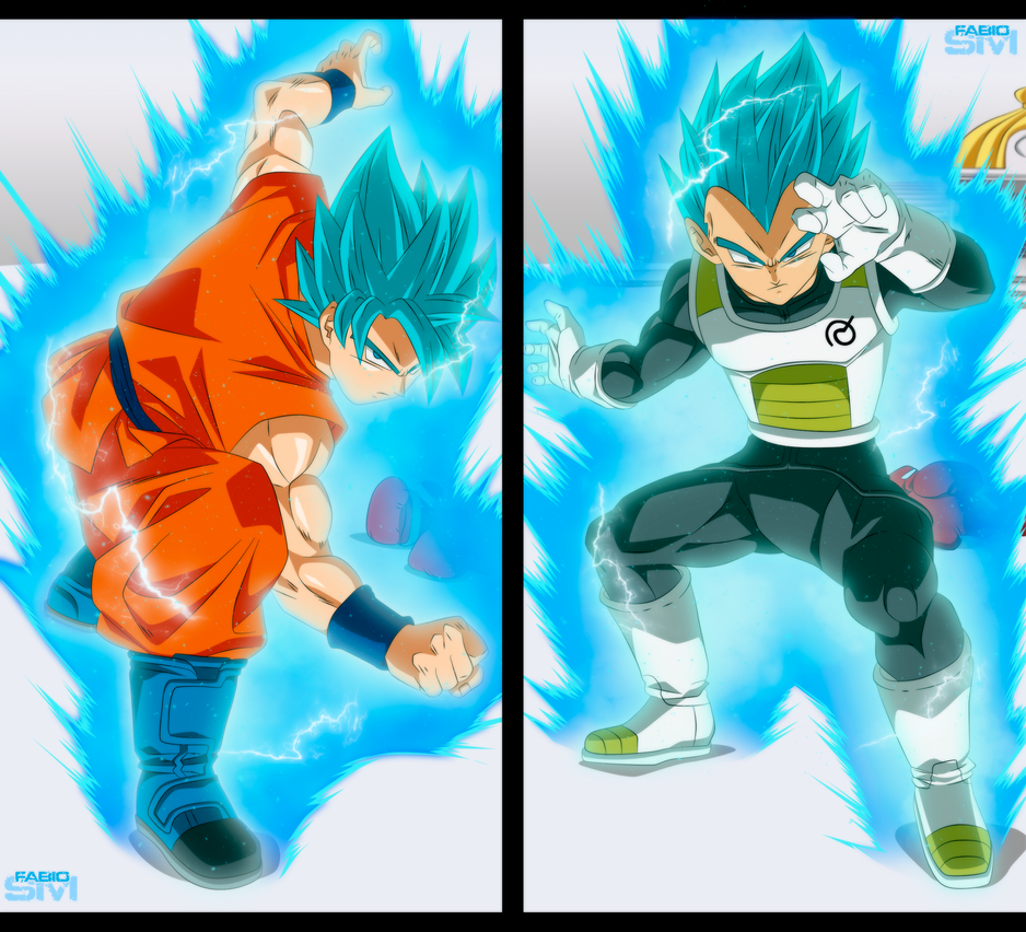 GOKU vs VEGETA [SSJ Blue] by FabianSM