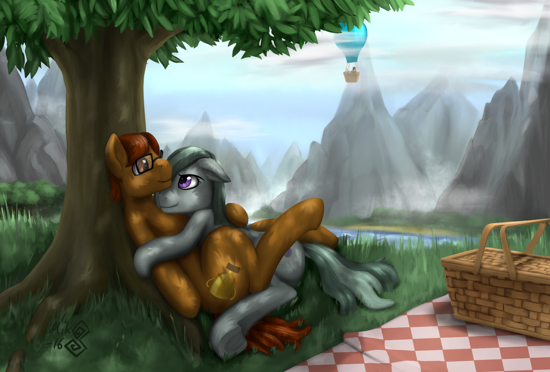 Commission - hearts and hooves picnic by Mik3TheStrange