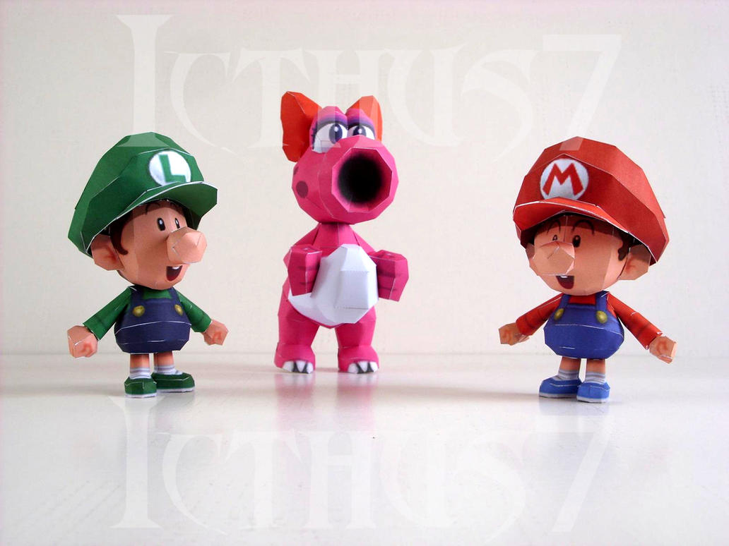 Baby Mario and Luigi and Birdo by enrique3