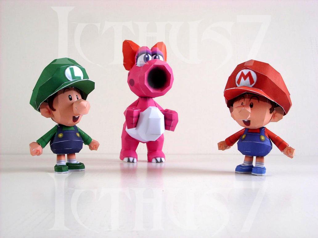 Baby Mario and Luigi and Birdo by enrique3