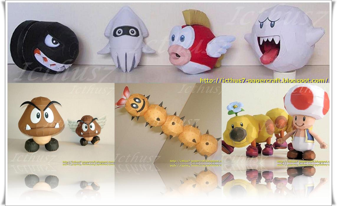 Characters of Mario Bros 2 by enrique3